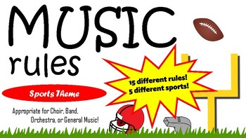 Music Rules - Sports Theme Posters