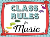 Major Scale Music Rules-Vintage Blue