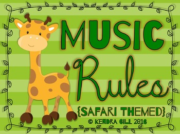 Music Rules - Safari Themed