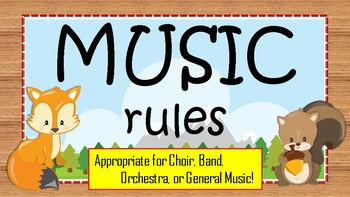 Music Rules - Woodland Animal Posters