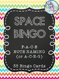 Music SPACE Bingo (F-A-C-E or A-C-E-G)