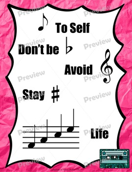 Music Sayings Posters {Vintage Record Store} Rainbow Glitter