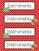 Music Schedule Cards - polka dots