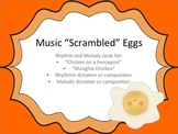 "Music ""Scrambled"" Eggs: a rhythm and melody game & assessment"
