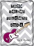 Music Secret Student Award