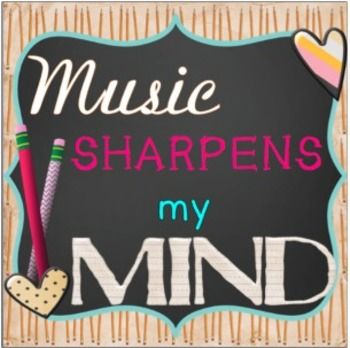 Music Sharpens My Mind Bulletin Board Kit
