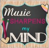 Music Sharpens My Mind Bulletin Board Kit