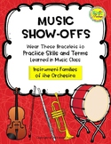 Music Show-Offs: Instrument Families of the Orchestra Bracelets
