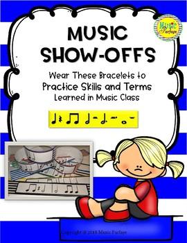 Music Show-Offs: Rhythm Bracelets - Q, Qr, 2E, H, Whole, Dotted Half Notes