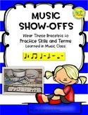 Music Show-Offs: Rhythm Bracelets - Q, Qr, 2E, H, Whole, D