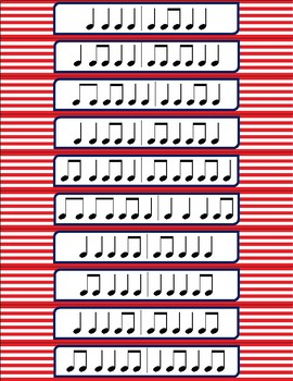 Music Show-Offs: Rhythm Bracelets - Quarter Note, Eighth Note Pairs