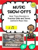 Music Show-Offs: Rhythm Bracelets - Quarter Note, Eighth N
