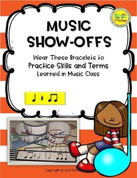 Music Show-Offs: Rhythm Bracelets - Quarter Note, Rest, Eighth Note Pairs