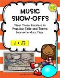 Music Show-Offs: Rhythm Bracelets - Quarter Note, Rest, Ei