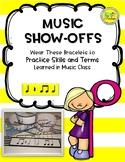 Music Show-Offs: Rhythm Bracelets - Quarter & Rest, Eighth