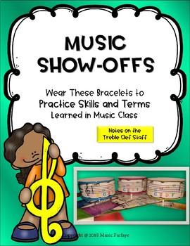 Music Show-Offs: Treble Clef Bracelets