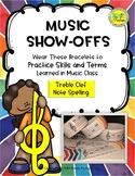 Music Show-Offs: Treble Clef Note Spelling Bracelets
