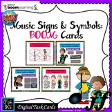 Music Signs & Symbols: BOOM CARDS-Digital Task Cards DISTA