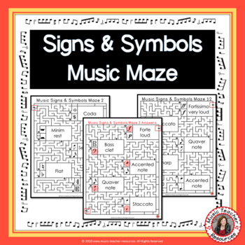 Music Signs and Symbols Maze Puzzles