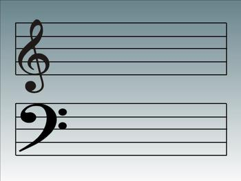 Music Smart Notebook Templates - Staff & Piano Templates (some with sound)