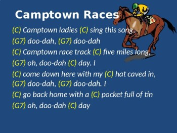 Folk Song: Camptown Races (sing-a-long with autoharp or boomwhackers)