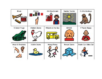 Music Songs Picture Symbols