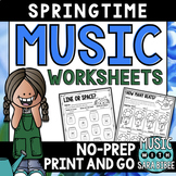 Spring Mega Pack of Music Worksheets