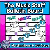 Music Staff Bulletin Board:  The Music Staff {Marshmallows