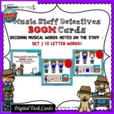 Music Staff Detectives: Note Names; #1-BOOM Cards-Digital