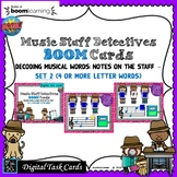 Music Staff Detectives: Note Names; #2-BOOM Cards-Digital