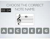 Music Staff Notes Practice Quiz