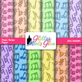 Music Notes Scrapbook Paper: Elements of Music Backgrounds