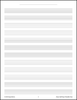 music staff paper printable pack by warm hearts publishing tpt