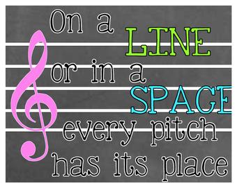 Music Staff Poem Poster