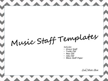 Music Staff Templates