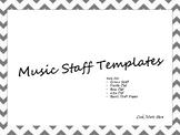 Music Staff Templates
