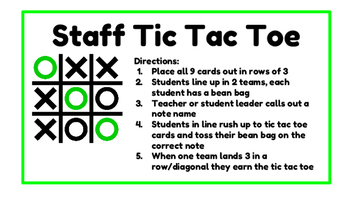 Music Staff Tic-Tac-Toe