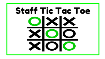 Music Staff Tic-Tac-Toe