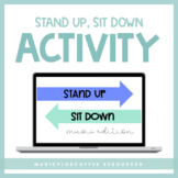Music Stand Up, Sit Down for Google Slides™ | Distance Learning
