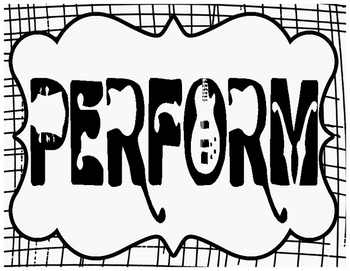 Music Standards Posters - Create, Perform, Connect, Respond