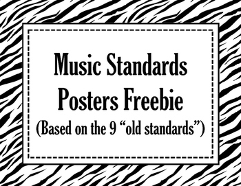 Music Standards Posters Freebie in Zebra