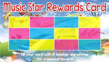 Music Star Rewards Card