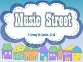 Music Street - Slides, Bulletin Board Display, Story & Manipulative