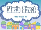 Music Street - Slides, Bulletin Board Display, Story & Man