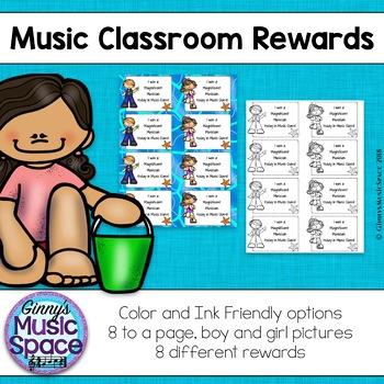 Music Student Rewards Ocean Friends Theme