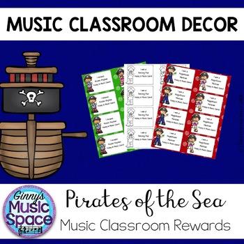 Music Student Rewards Pirate Theme