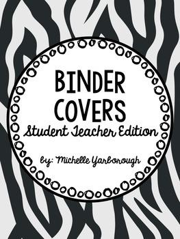 Music Student Teaching Binder Covers: Zebra Print