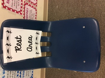 """""""Rest Area"""" - Time Out Chair for Music Class"""