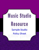 Music Studio Policy Sheet
