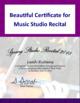 Music Studio Recital Pack